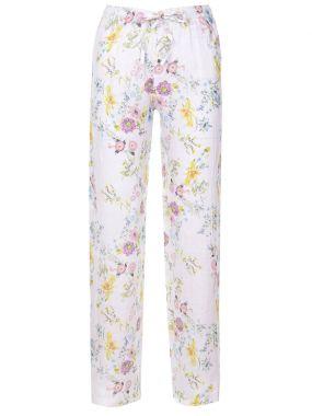 Льняные брюки с принтом