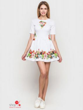 Платье SK House, цвет белый