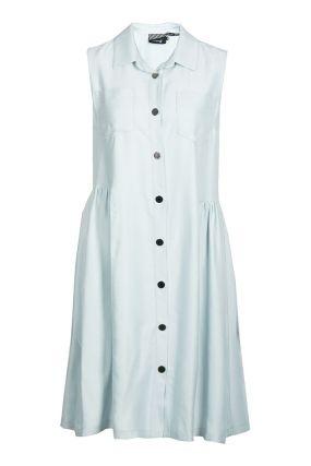 Голубое платье из вискозы