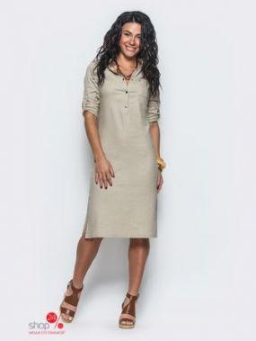 Платье Модный остров, цвет бежевый