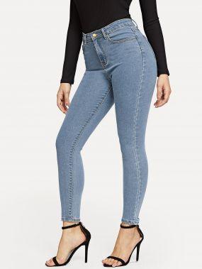 Обтягивающие джинсы с карманом
