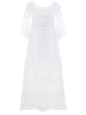 Платье с шитьем-кружевом