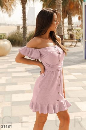 Хлопковое платье в полоску