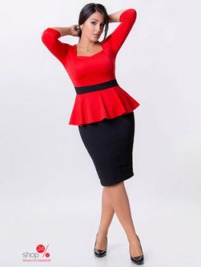 Платье Vojelavi, цвет красный, черный