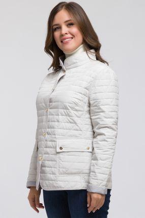 Стеганая весенняя куртка на большой размер