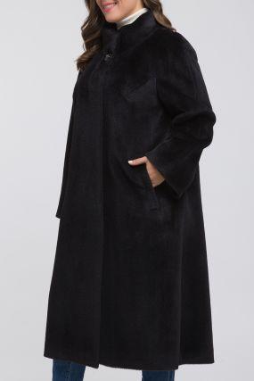 Длинное расклешенное пальто из альпака