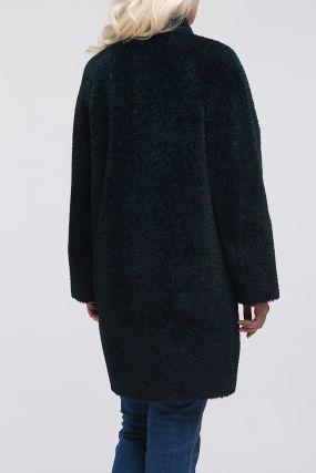Женское пальто кокон из альпака сури
