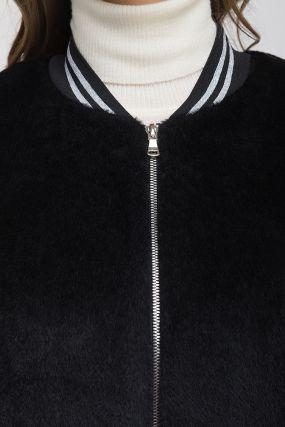 Модное длинное пальто из альпака без капюшона