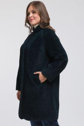 Модное пальто реглан из альпака без меха