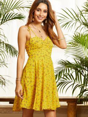 SBetro платье с драпировкой и цветочным принтом