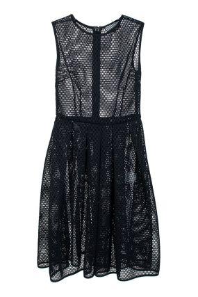 Платье-сарафан из сетчатой ткани