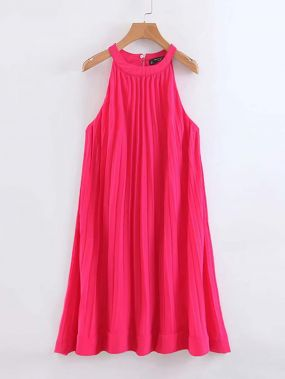 богимский Одноцветный ярко-розовый Платья