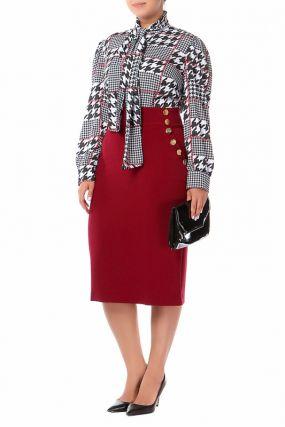 Костюм: юбка, блузка Bordo