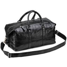 Кожаная дорожно-спортивная сумка Англия (чёрная)