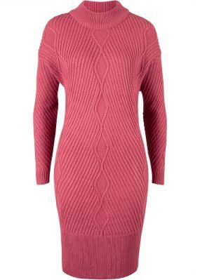 Платье вязаное в стиле оверсайз с рисунком