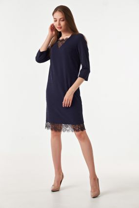 Платье с вкраплениями люрекса