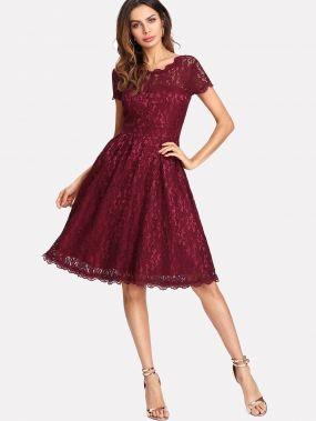 Модное кружевное платье