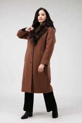 Утепленное пальто реглан из шерсти на осень