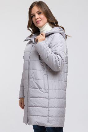 Финская длинная куртка на синтепоне с капюшоном