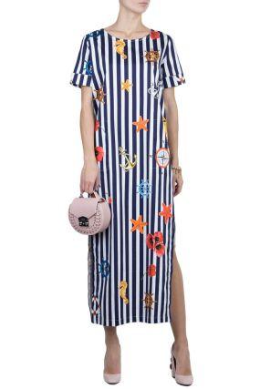 Длинное платье в морском стиле