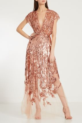 Платье с пайетками