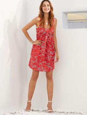 SBetro платье-комбинация с цветочным принтом