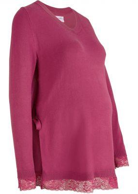Пуловер для беременных и кормящих мам