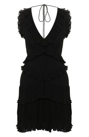 Платье с оборками Zimmermann