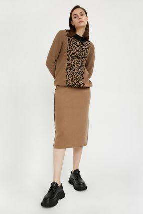 трикотажная женская юбка с шерстью