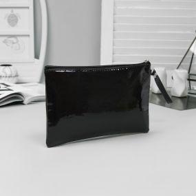 Косметичка-сумка, отдел на молнии, цвет чёрный, shine