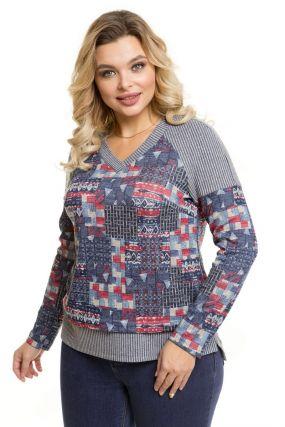 Пуловер абстракция