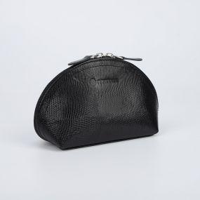 Косметичка простая, отдел на молнии, цвет чёрный