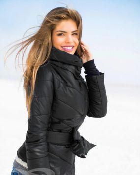 Теплая стеганая куртка