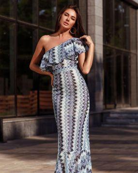 Трикотажное платье-годе