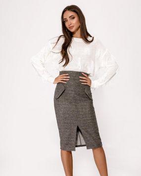 Теплая деловая юбка