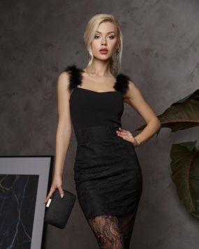 Кружевная юбка-миди