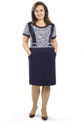 Платье вискозное Нина (синее)