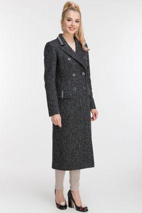 Классическое приталенное двубортное пальто из шерсти