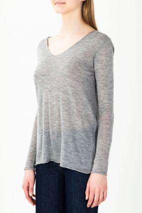 Серый легкий пуловер