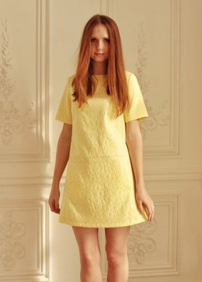 Летнее мини-платье силуэта трапеция PNB073
