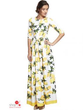 Платье Nothing but love, цвет желтый, белый