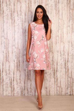 Платье трикотажное Тори (розовое)