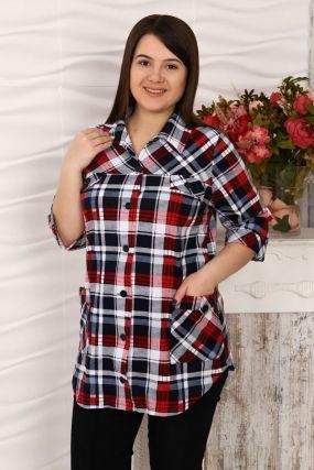 Рубашка трикотажная Клавдия (серая)