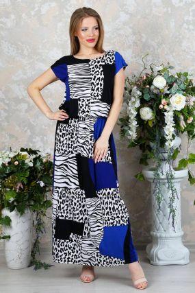 Платье трикотажное Нетта (сафари)