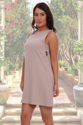 Платье трикотажное Фиби (бежевое)
