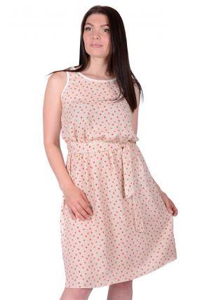 Платье штапельное Алеида (бежевое)