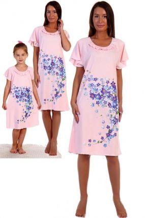 Ночная сорочка Водопад (розовая)