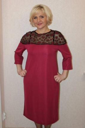 Платье трикотажное Онеида (красное)