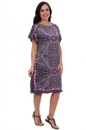 Платье трикотажное Восток (розовое)