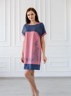 Платье трикотажное Даниэлла (розовое)
